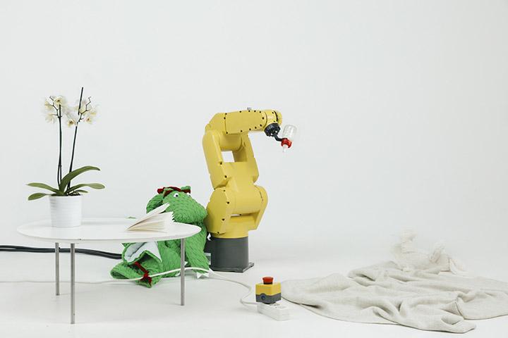 New Normal _ Stephan Bogner, Philipp Schmitt, Jonas Voigt, Raising Robotic Natives, 2016. Mixed materials