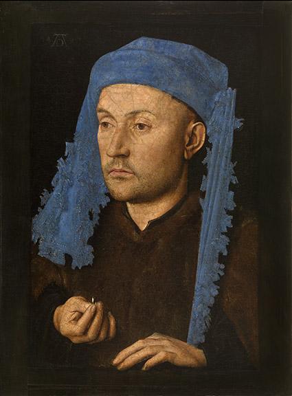 05-Portret van een man met blauwe kaproen