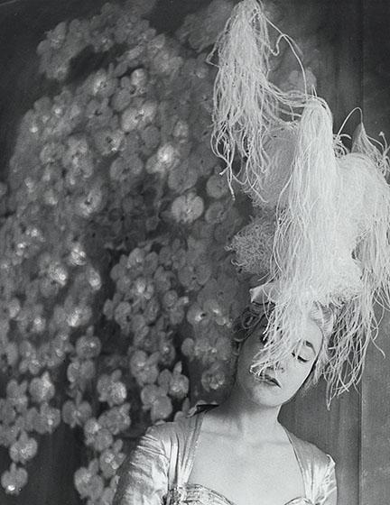 11. Madame d'Ora, Elizabeth Strong-Cuevas in a costume by Pierre Balmain for her father's party, 1953. © Nachlass Madame d'Ora, Museum für Kunst und Gewerbe Hamburg