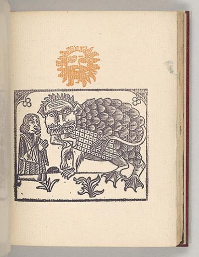 Jarry, Alfred, 1873-1907, Cesar antechrjst / par Alfred Jarry, [Paris] : Editio dv. Mercvre. de Frace. xv. rve. de. líEchavde, M.D. CCC. XCV. [1895], plate [3]r (image), PML 197018