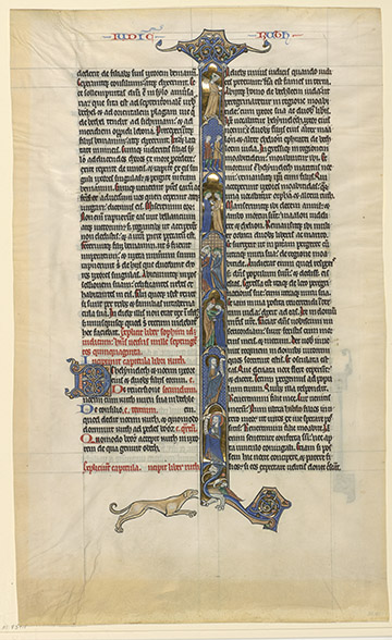 MS M.851.1, No. 001, Naomi and Elimelech: in Moab, fol. 127r, Bible fragments (MS M.851.1-4), France, ca. 1260.