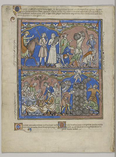 Old Testament miniatures, MS M.638, fol. 17v