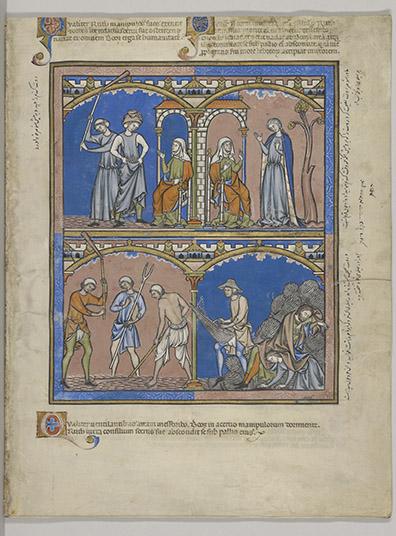 Old Testament miniatures, MS M.638, fol. 18r