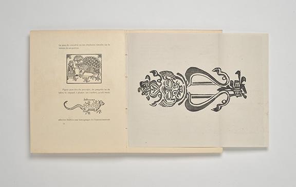 L'Ymagier.  [Paris : L'Ymagier, 1894-1896], pp. 74-74a unfolded spread, PML 197080 (PML 197080-81)