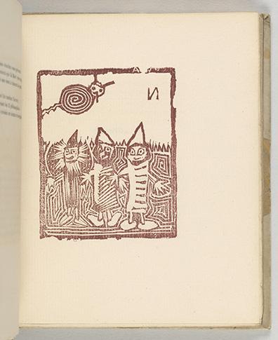 Jarry, Alfred, 1873-1907.   Les minutes de sable memorial /  [Paris] : Editio[n] du Mercure de Fra[n]ce, xv, rue de l'Echaude, MDCCCXCIV [1894],  plate [2]r (image), PML 197017