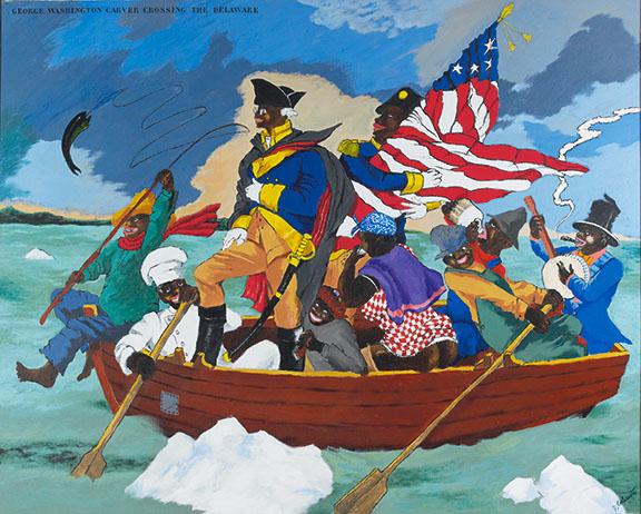 Colescott, George Washington Carver Crossing the Delaware