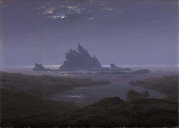 Friedrich_Felsenriff am Meeresstrand