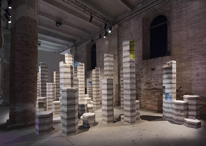 Julian Charrière - Future Fossil Spaces, 2017 - Installation View 013, La Biennale di Venezia 2017, Venice, Italy, 2017 (copyright the artist; VG Bild-Kunst, Bonn, Germany)