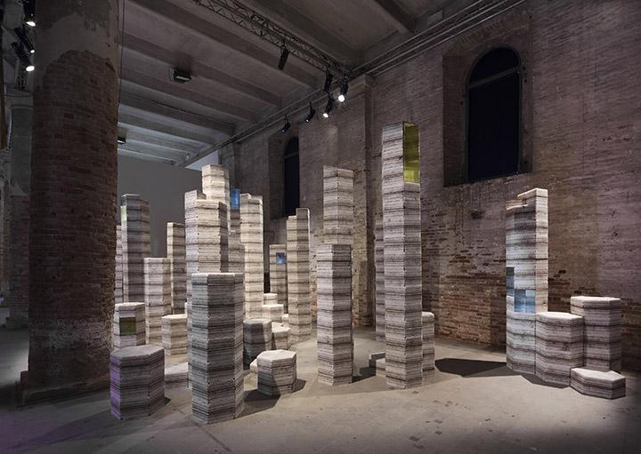 Julian Charrière - Future Fossil Spaces, 2017 - Installation View 013, La Biennale di Venezia 2017, Venice, Italy, 2017 (copyright the artist; VG Bild-Kunst, Bonn, Germany)
