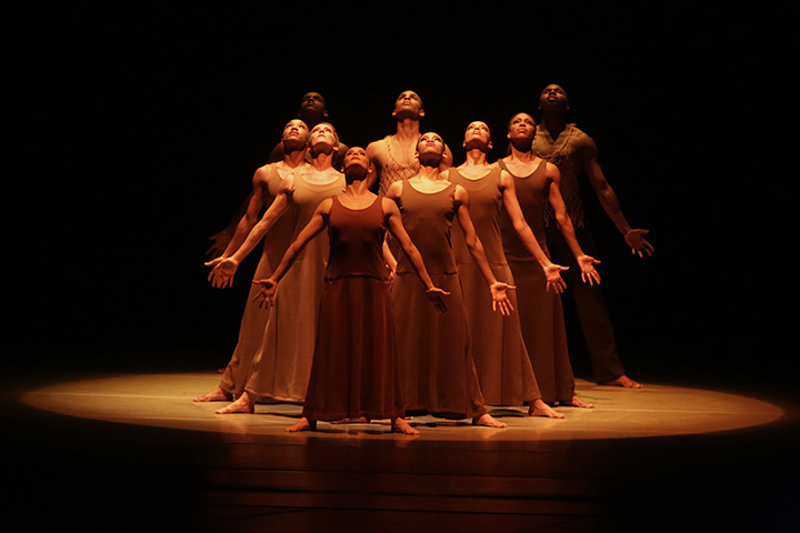 Alvin Ailey American Dance Theater in Alvin Ailey's Revelations. Photo by Bill Hebert (1)