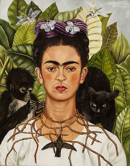 Schirn_Presse_Fantastische Frauen_Frida Kahlo_Selbstbildnis mit Dornenhalsband_1940