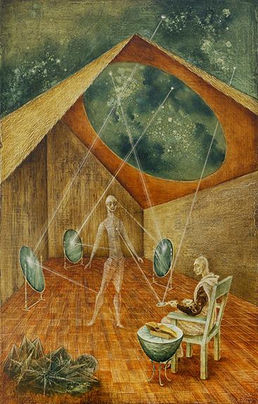Schirn_Presse_Fantastische Frauen_Remedios Varo_Creacion con rayos astrales_1955