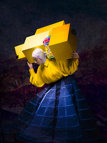 Cooper _ Gorfer - Israa With Yellow Boxes, 2020 © Cooper _ Gorfer