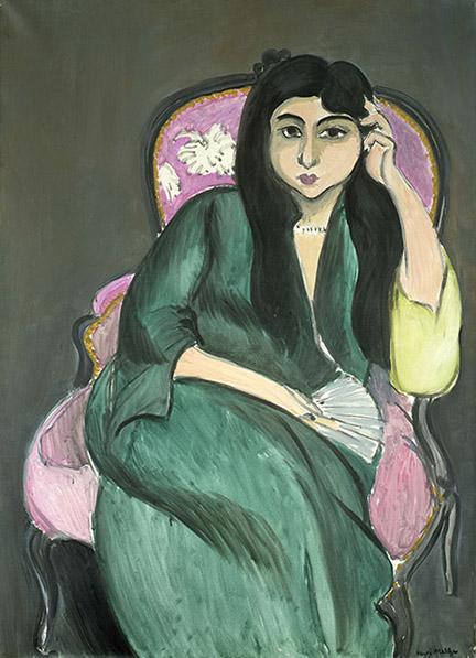 henri_matisse_la_femme_en_vert_au_fauteuil_rose_laurette_-_1917_privatbesitz
